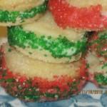 Christmas Creme Wafer Cookies