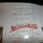 WE WON A COUPON BOOK TO ADVENTURELAND THEME PARK