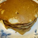 Breakfast: Banana and Almond Pancakes!