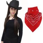 Black Cowboy Hat w/Red Paisley Bandana! #adultcowboyset