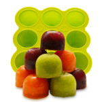 Silicone Baby Food Freezer Tray with Clip-On Lid!