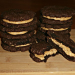 Chocolate Peanut Butter Sandwich Cookies! #LCHF #GrainFree