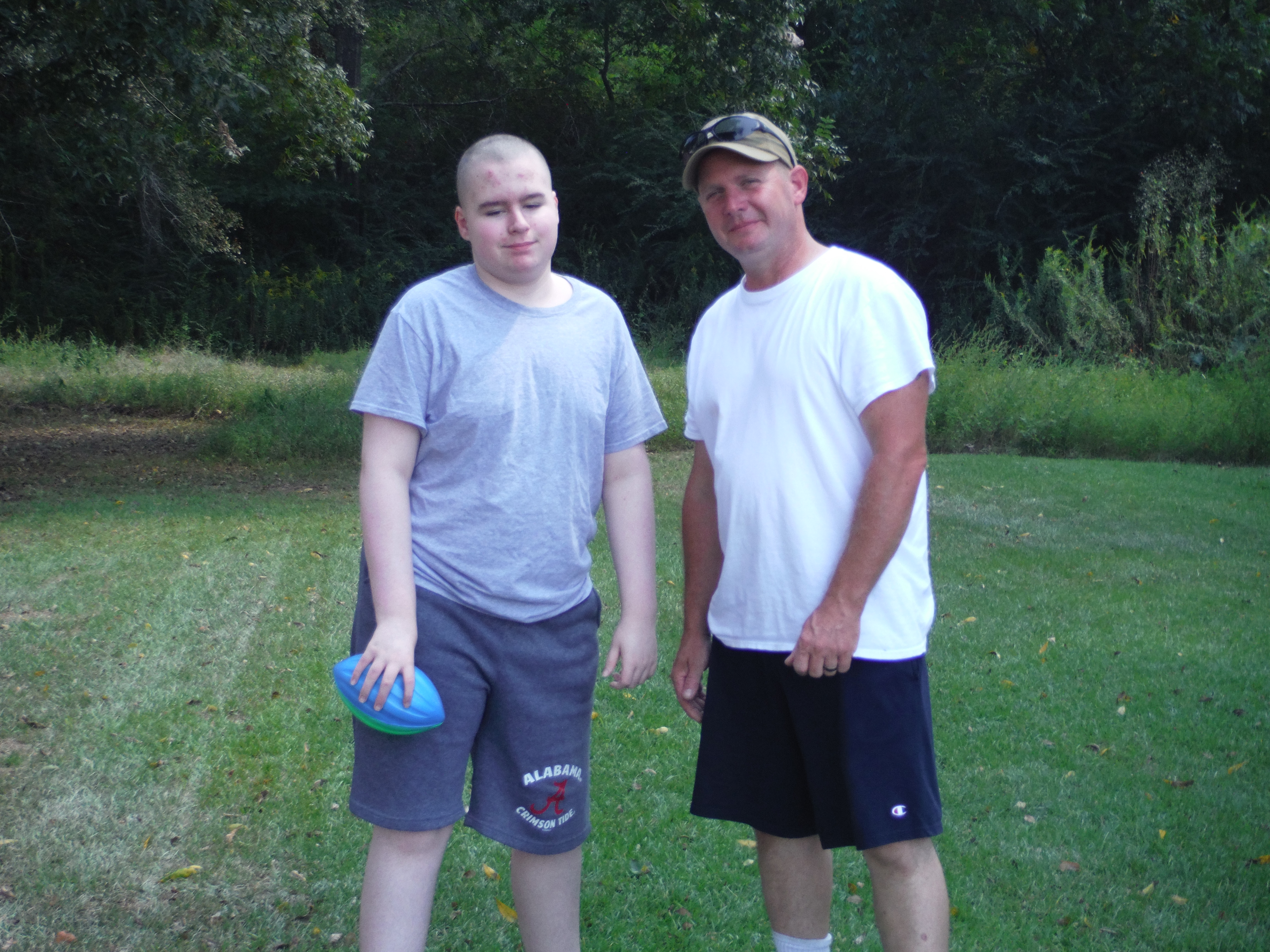 Leo & his Dad after a fun game of Catch! #ad #YoplaitGoBig